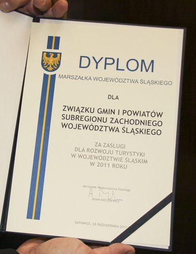 Dyplom za Zasługi dla Rozwoju Turystyki dla Związku