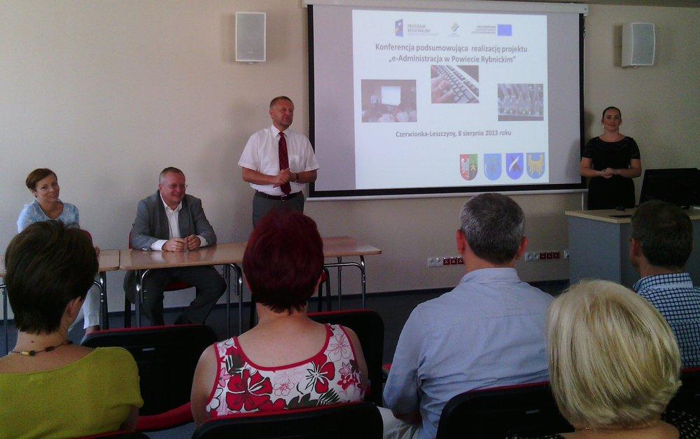 e- Administracja – Konferencja podsumowująca w Czerwionce – Leszczynach.