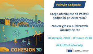 Konsultacje dotyczące kształtu polityki spójności po 2020 roku