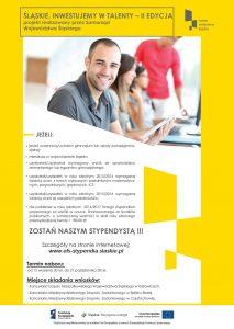 projekt stypendialny Samorządu Województwa Śląskiego