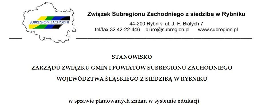 Stanowisko Zarządu Związku w sprawie planowanych zmian w systemie edukacji