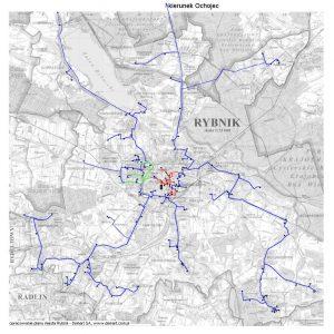 Planowany przebieg sieci w docelowym kształcie przedstawiony został na poniższej mapie: (kliknij, żeby powiększyć)