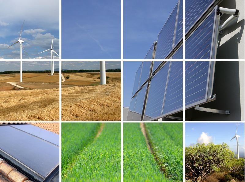 Kolaż energia odnawialna