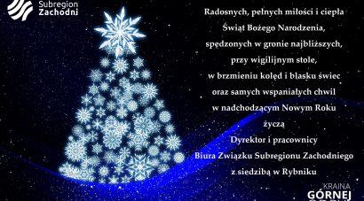 Karta z życzeniami świątecznymi